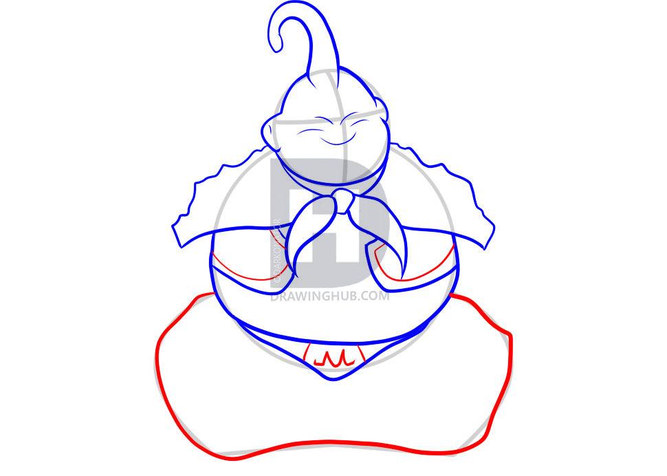 como desenhar o majin boo