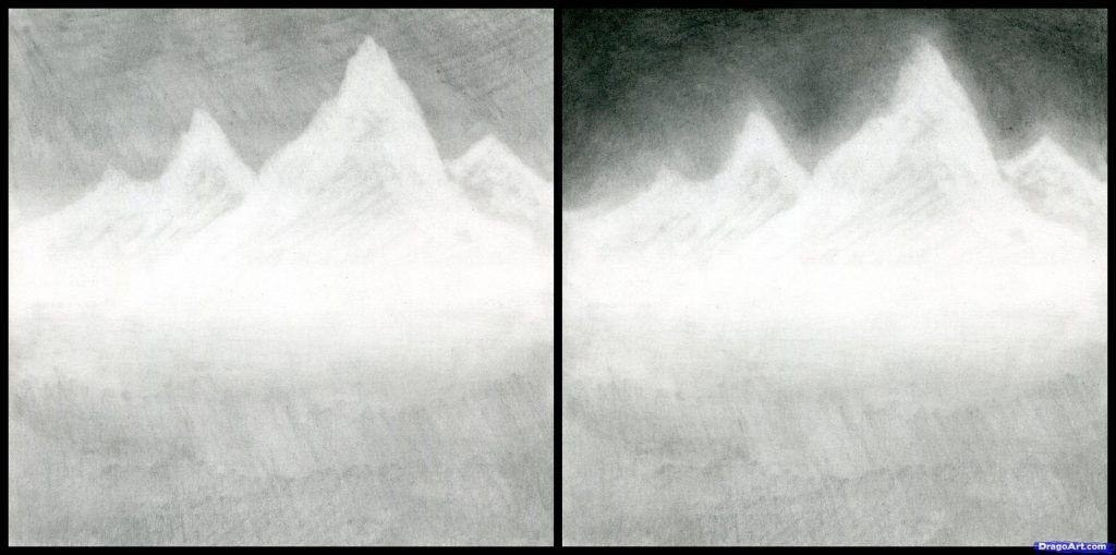 como desenhar paisagens
