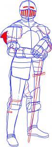 como desenhar um cavaleiro