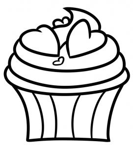 como desenhar um cupcake
