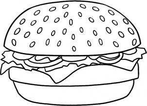 como desenhar um hambúrguer