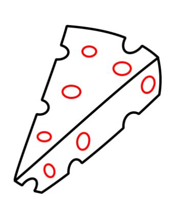 como desenhar um queijo