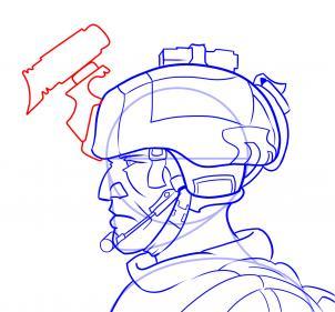 como desenhar um soldado