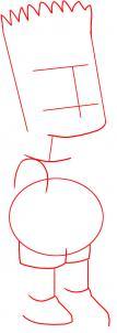 como desenhar o bart simpson