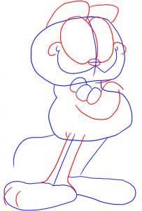como desenhar o garfield