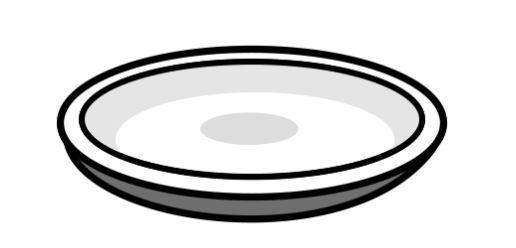 como desenhar um prato