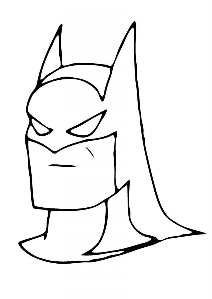 Batman para colorir e pintar