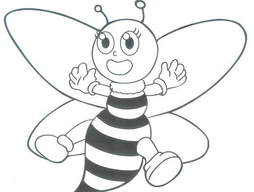 abelha para colorir e pintar