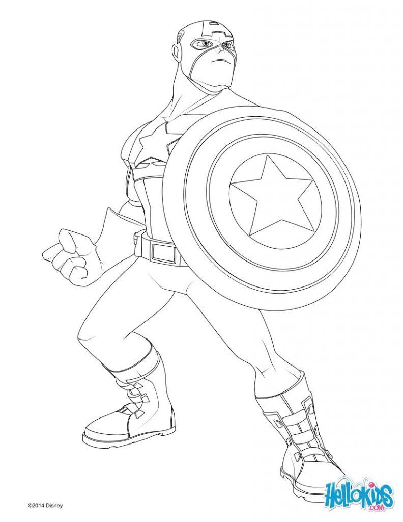capitão américa para colorir e pintar