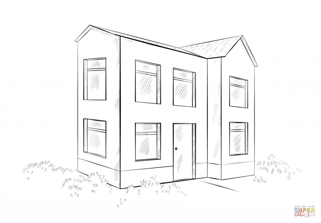 casas para colorir e pintar