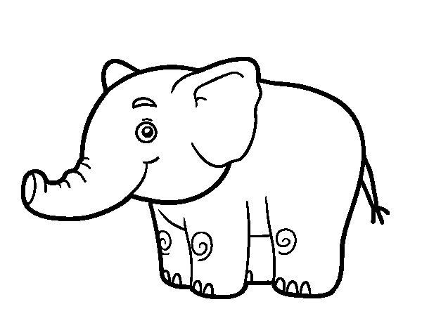 Elefante Para Colorir E Imprimir Muito Facil Colorir E Pintar