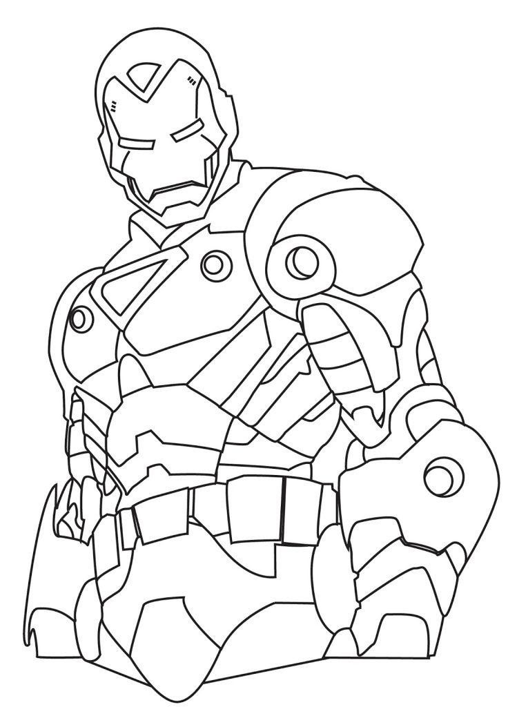 homem de ferro para colorir e pintar