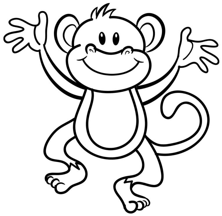 macaco para colorir e pintar