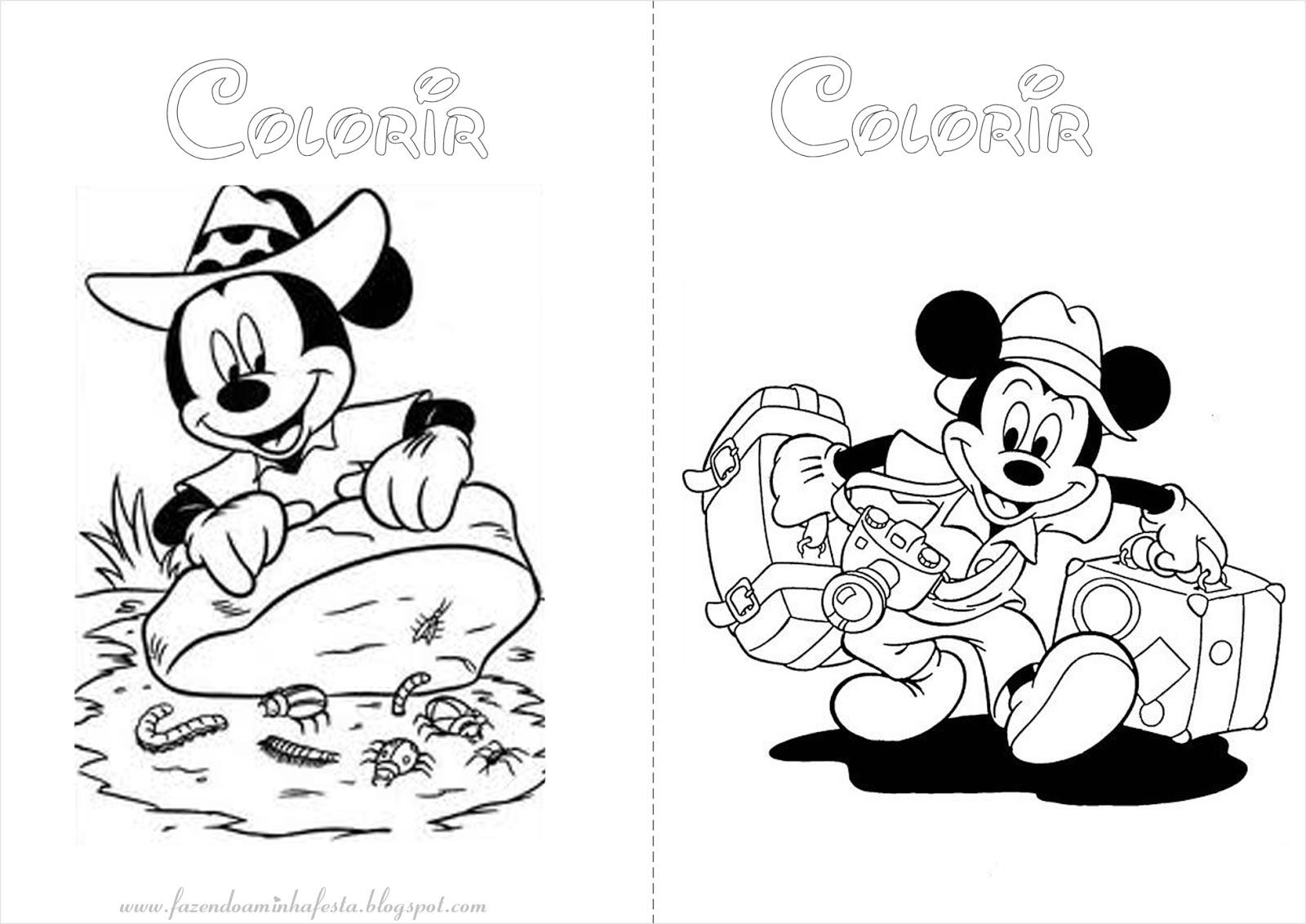Mickey E Minnie Para Colorir E Imprimir Muito Facil Colorir E