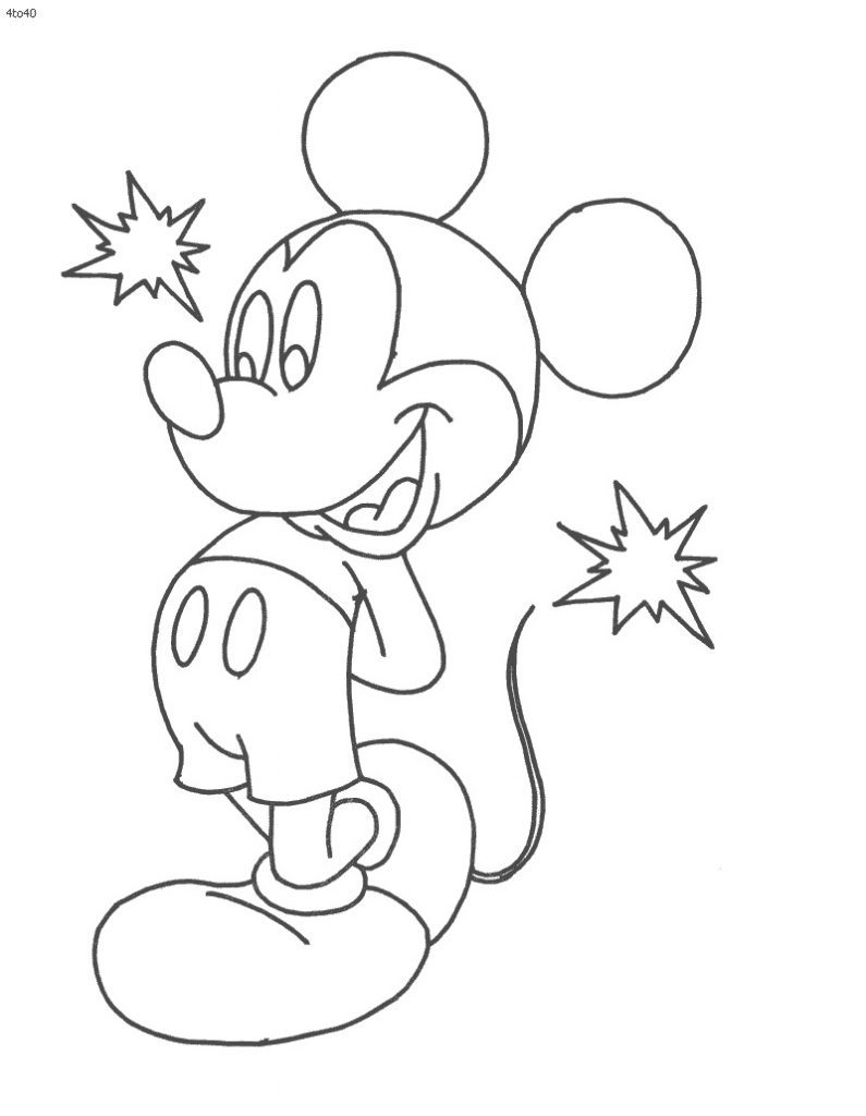 mickey para colorir e pintar