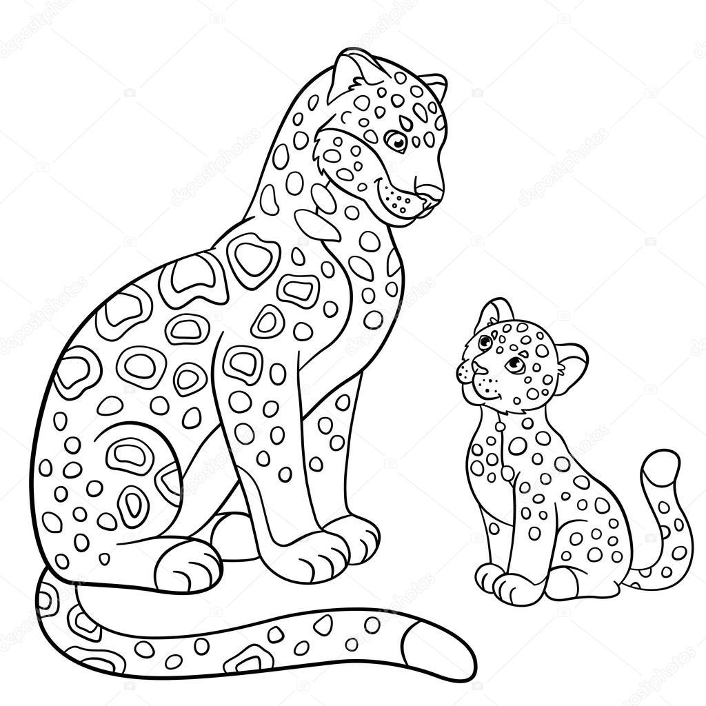 imagens de jaguar para colorir