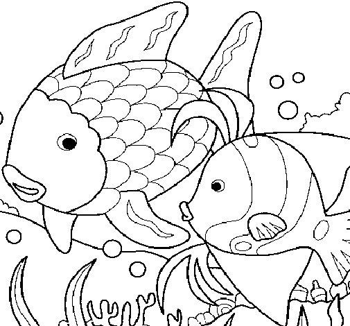 peixe para colorir e pintar