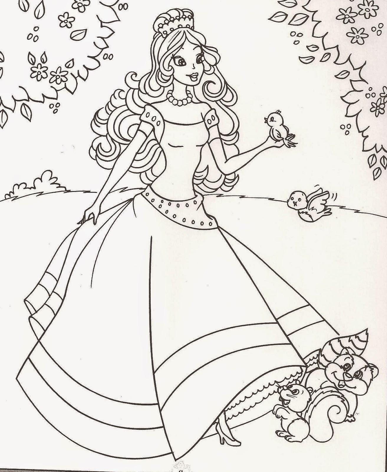 Princesas Para Colorir E Imprimir Muito Facil Colorir E Pintar