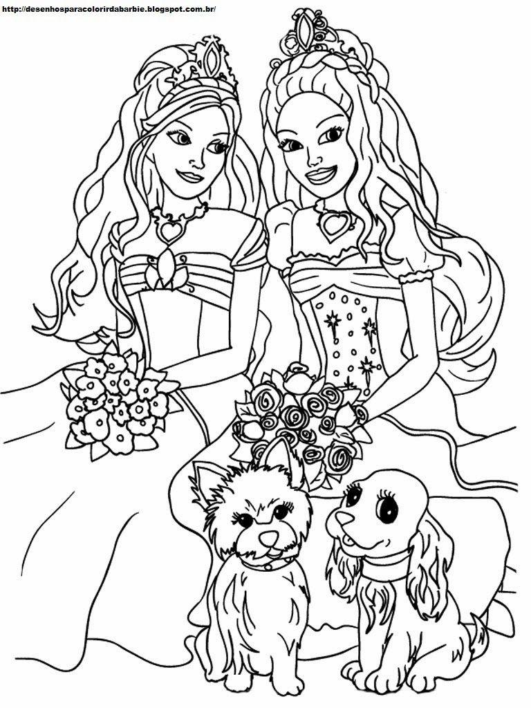 princesas para colorir e pintar