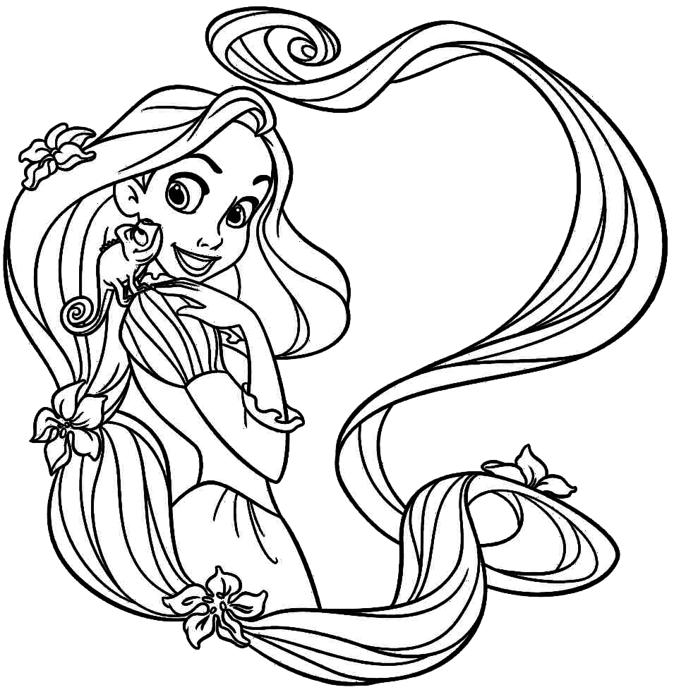 Rapunzel Para Colorir E Imprimir Muito Facil Colorir E Pintar
