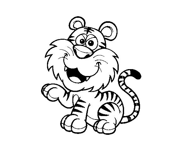 tigre para colorir e pintar