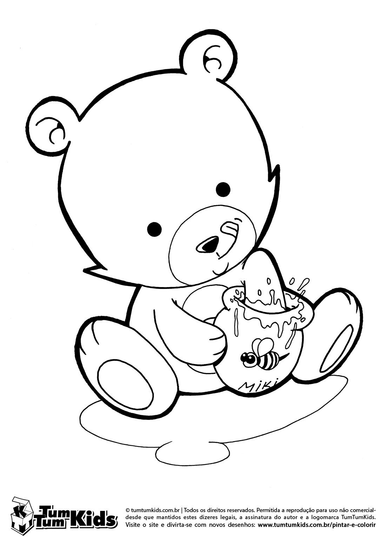 Urso Para Colorir E Imprimir Muito Facil Colorir E Pintar