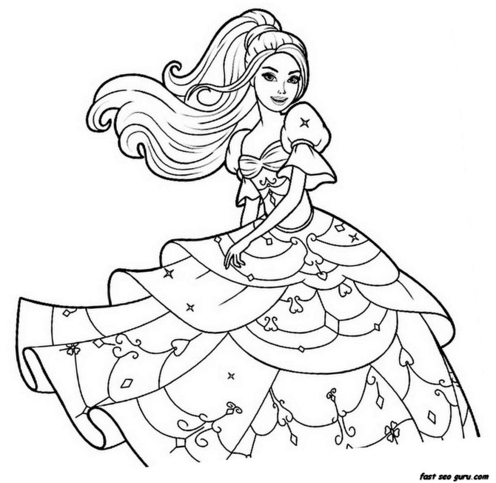 barbie para colorir e pintar