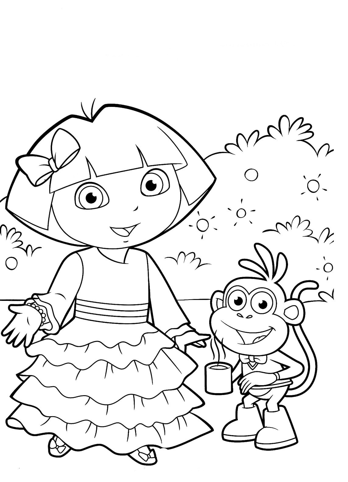 Dora Aventureira Para Colorir E Imprimir Muito Facil Colorir E