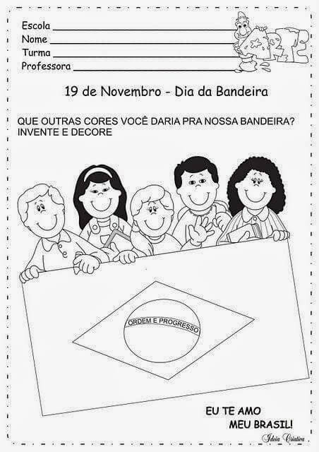Bandeira do Brasil para Colorir e Imprimir