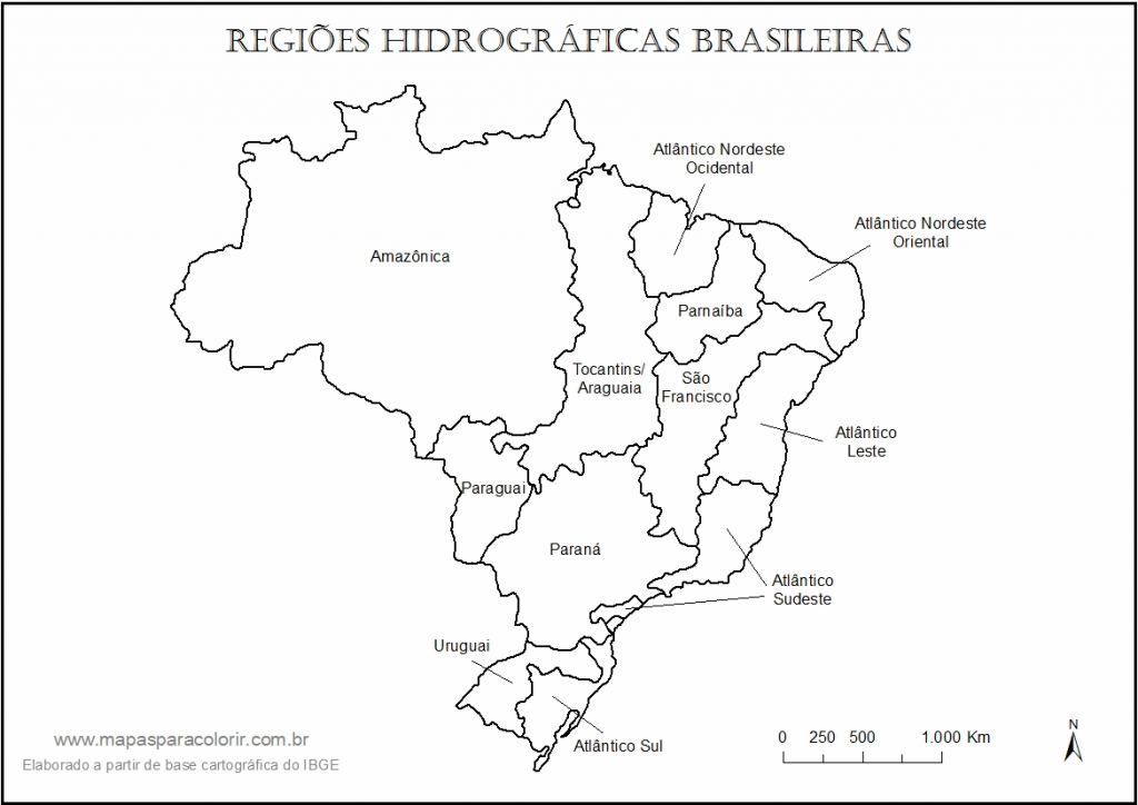 Mapa do Brasil para Colorir e Imprimir 1
