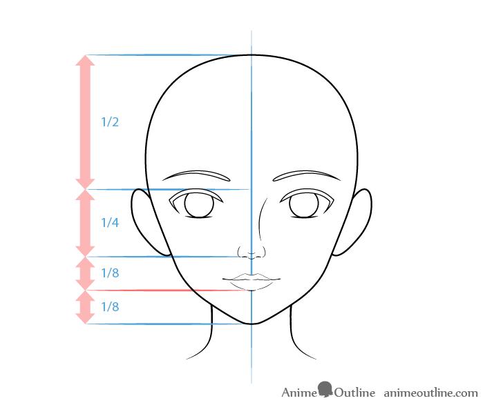 como desenhar um personagem de anime boca feminina