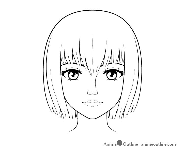 como desenhar um personagem de anime cabelo feminino cabeça feminina arte final 2
