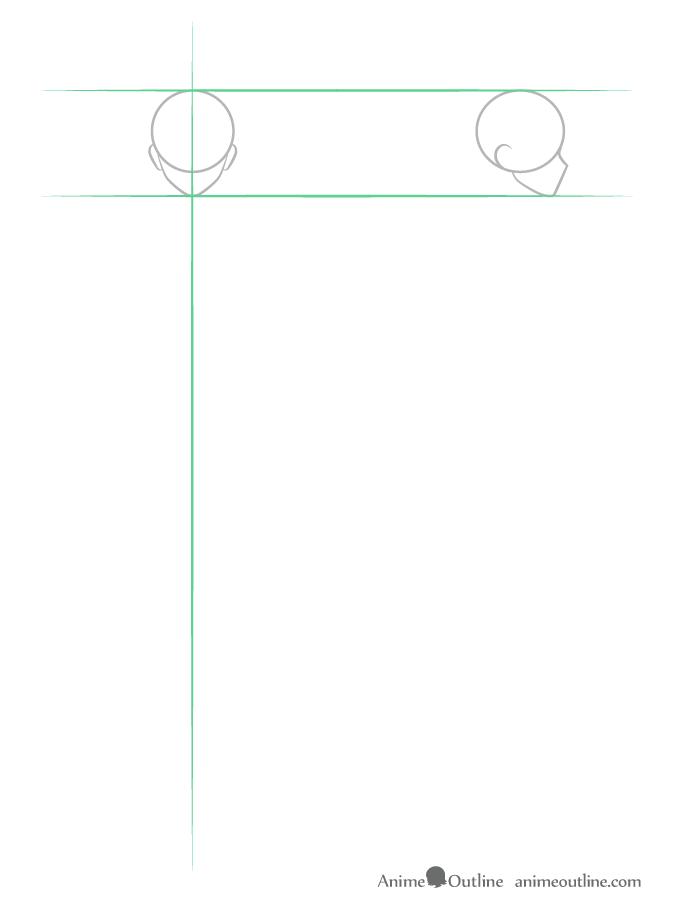 como desenhar um personagem de anime corpo masculino cabeça