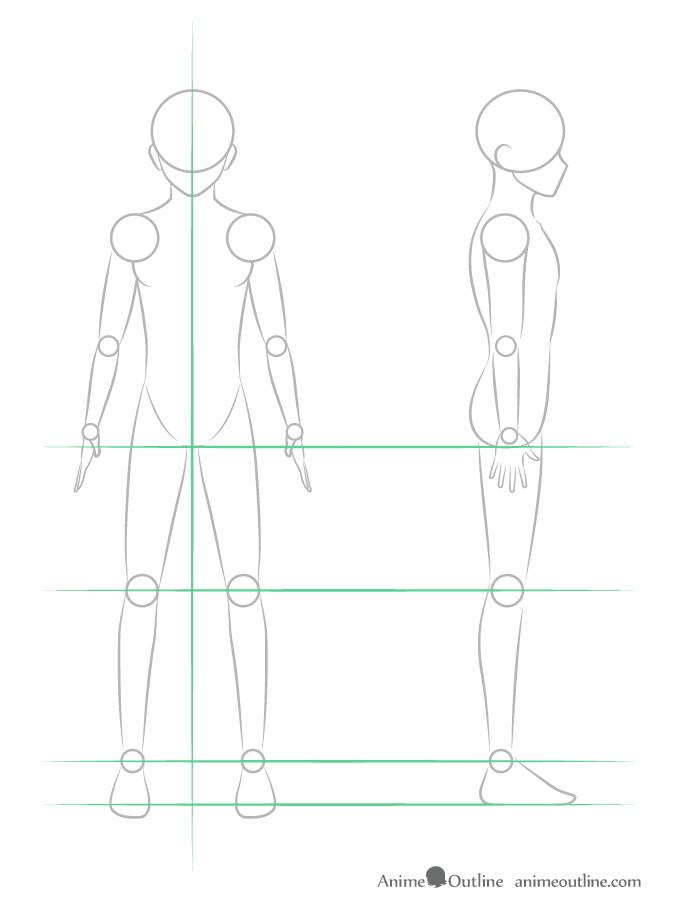 como desenhar um personagem de anime corpo masculino pernas