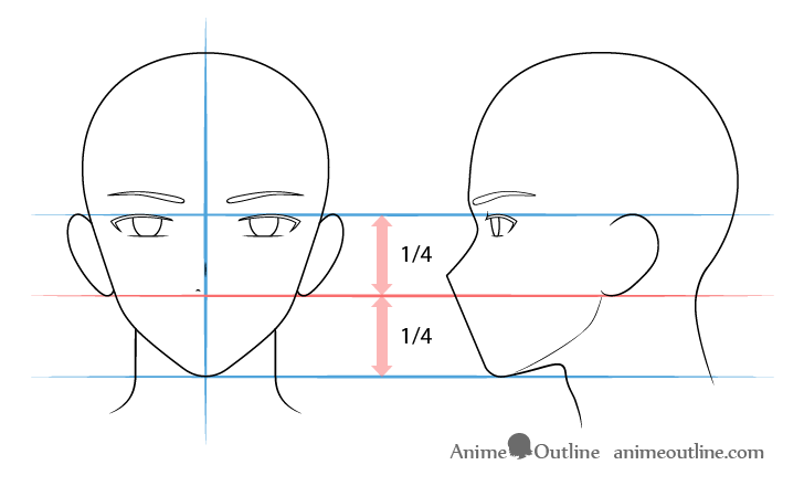 como desenhar um personagem de anime nariz masculino