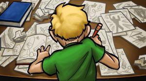 como desenhar um personagem de anime praticando
