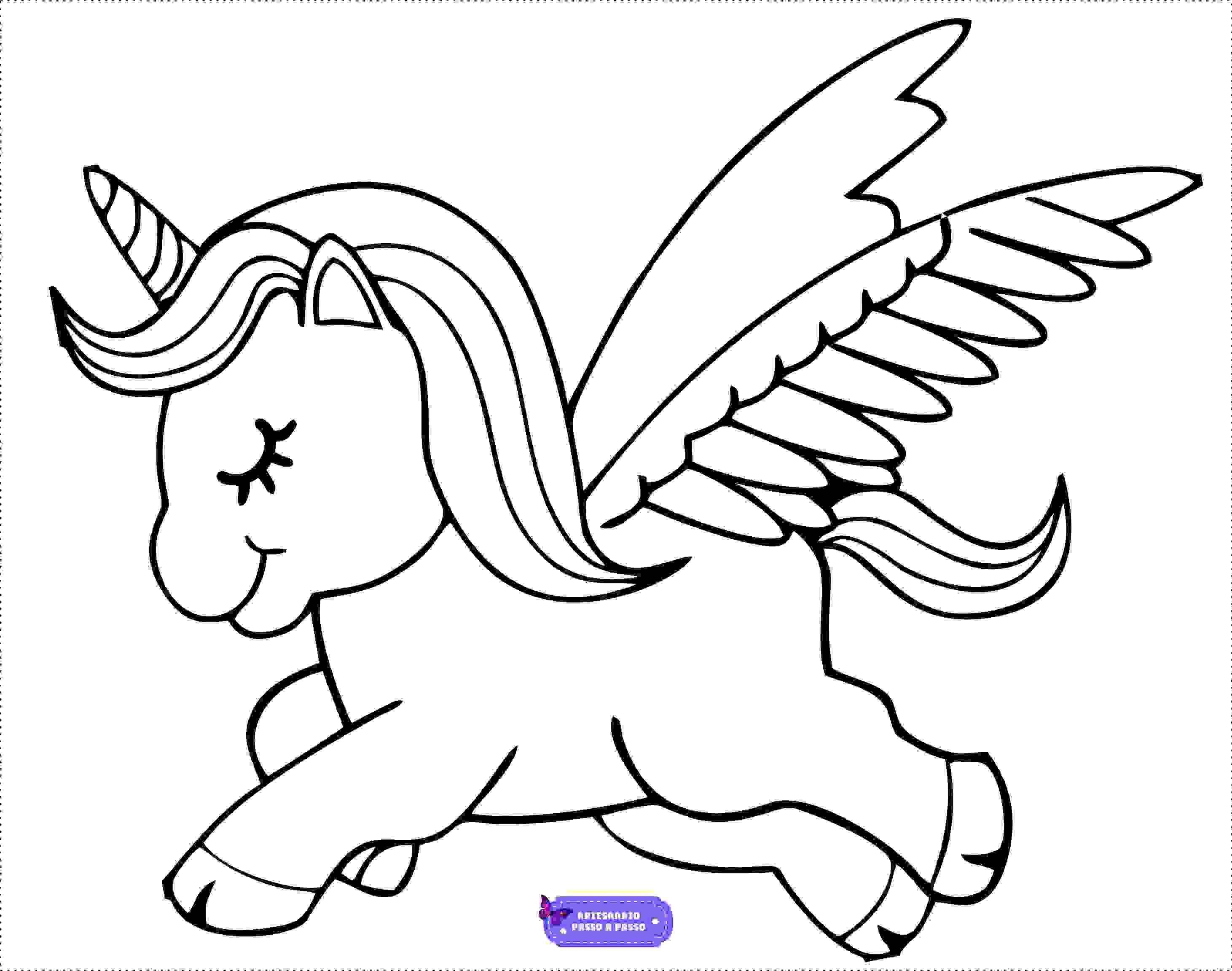 Unicornio Para Colorir E Imprimir Muito Facil Aprender A Desenhar