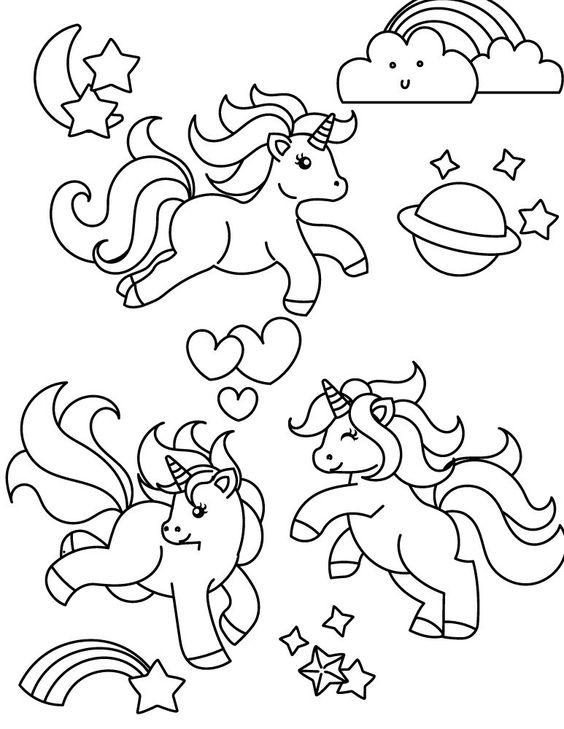 Unicórnio para Colorir desenhos