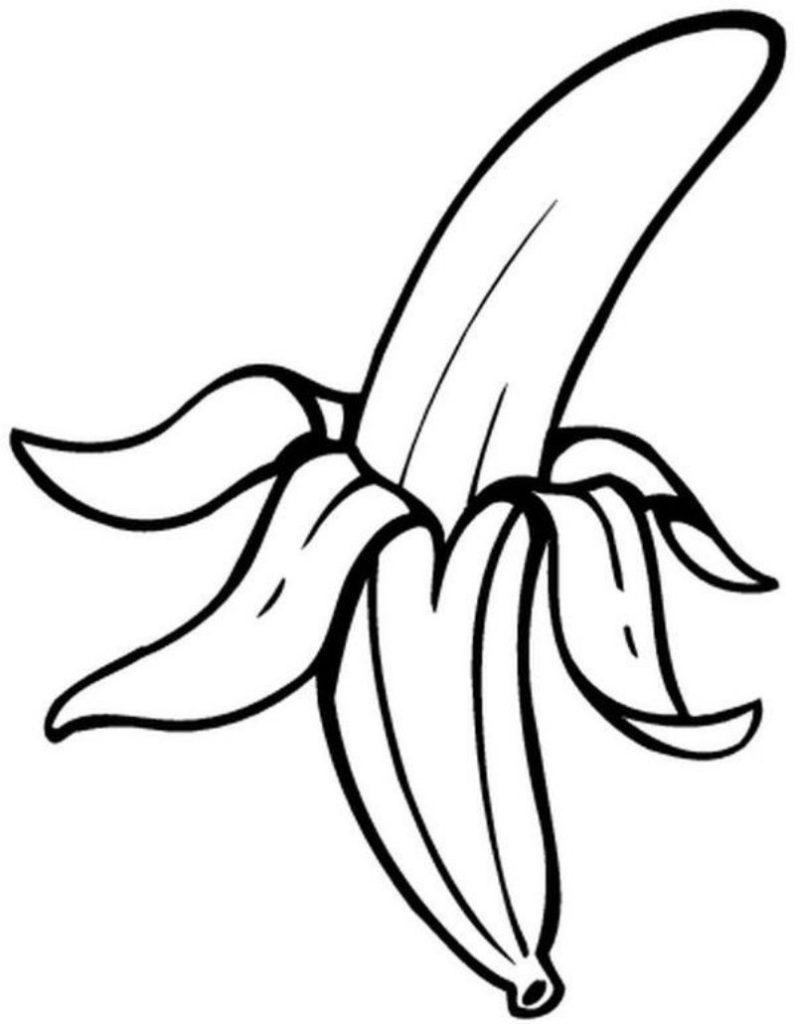 banana para colorir descascada