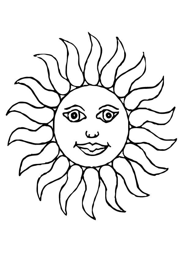 sol para colorir antigo