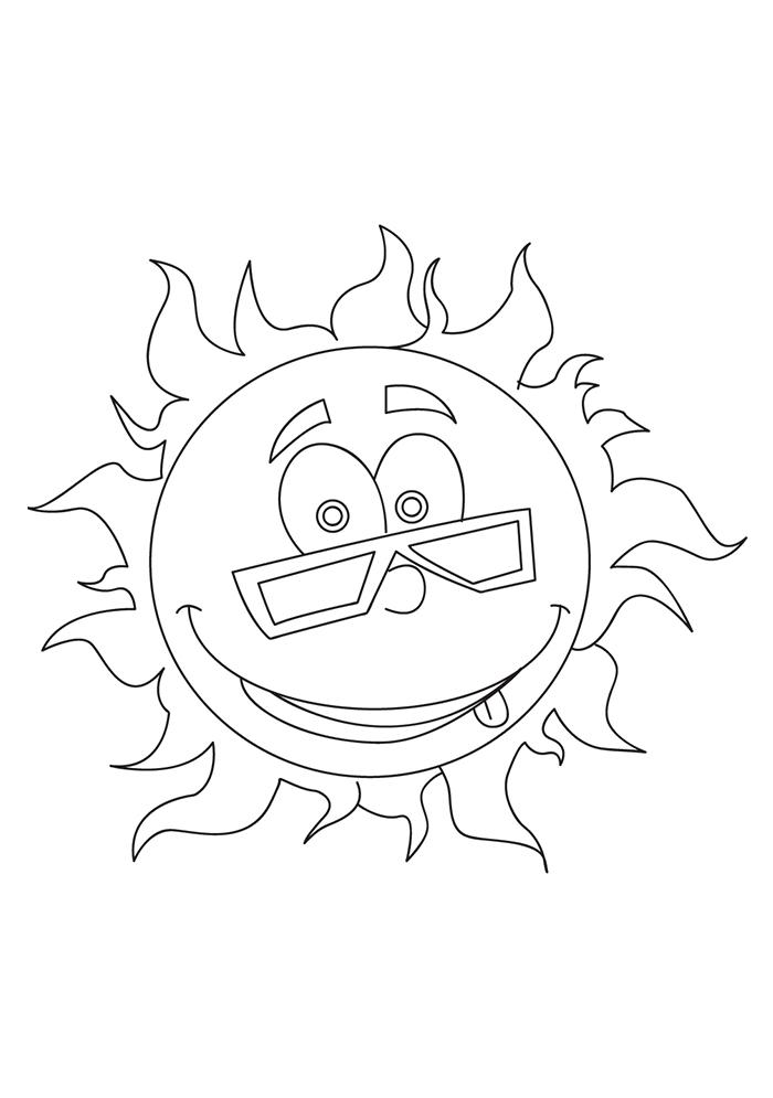 sol para colorir feliz 2