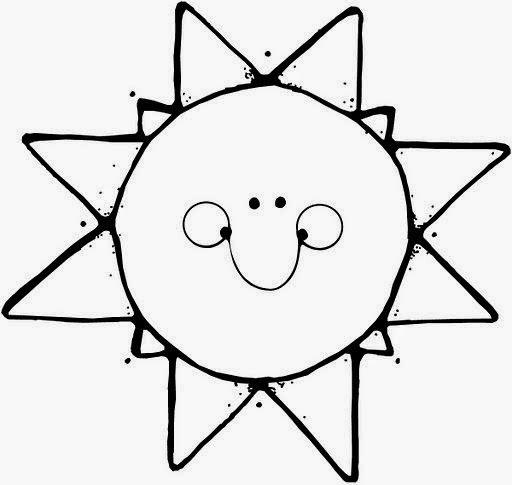 sol para colorir feliz