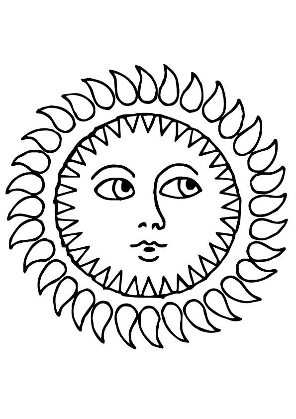 sol para colorir mistico