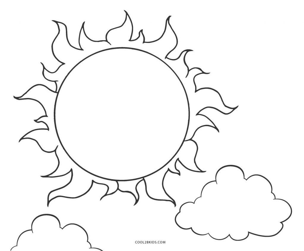 sol para colorir normal 2