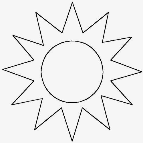 sol para colorir raios