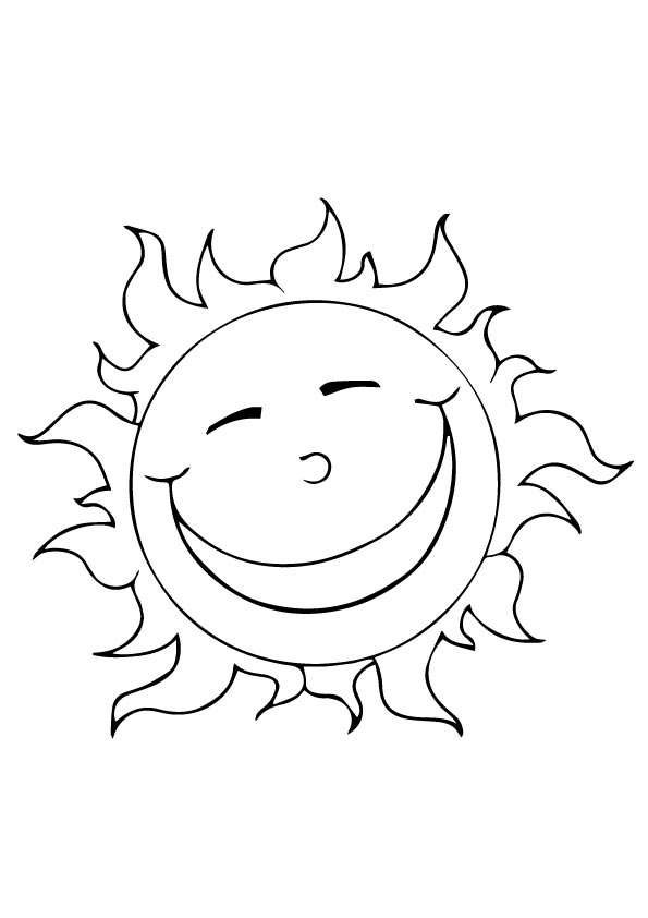 sol para colorir sorrindo