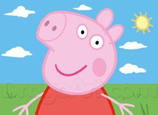 como desenhar a peppa pig