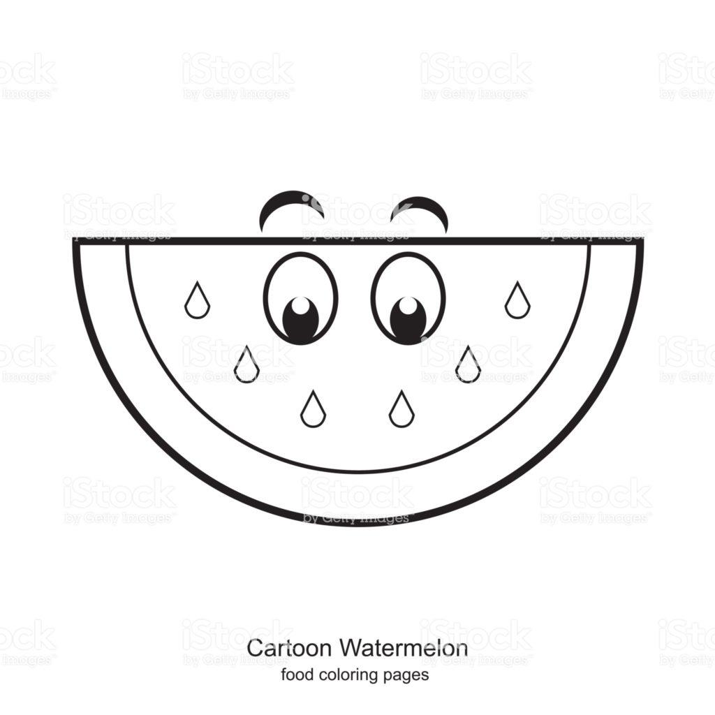 melancia para colorir cartoon