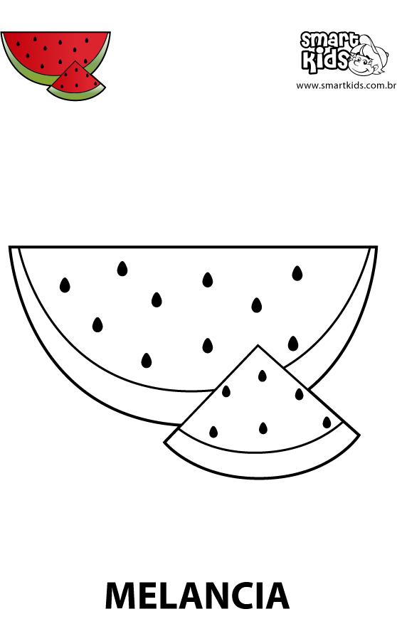 melancia para colorir desenho