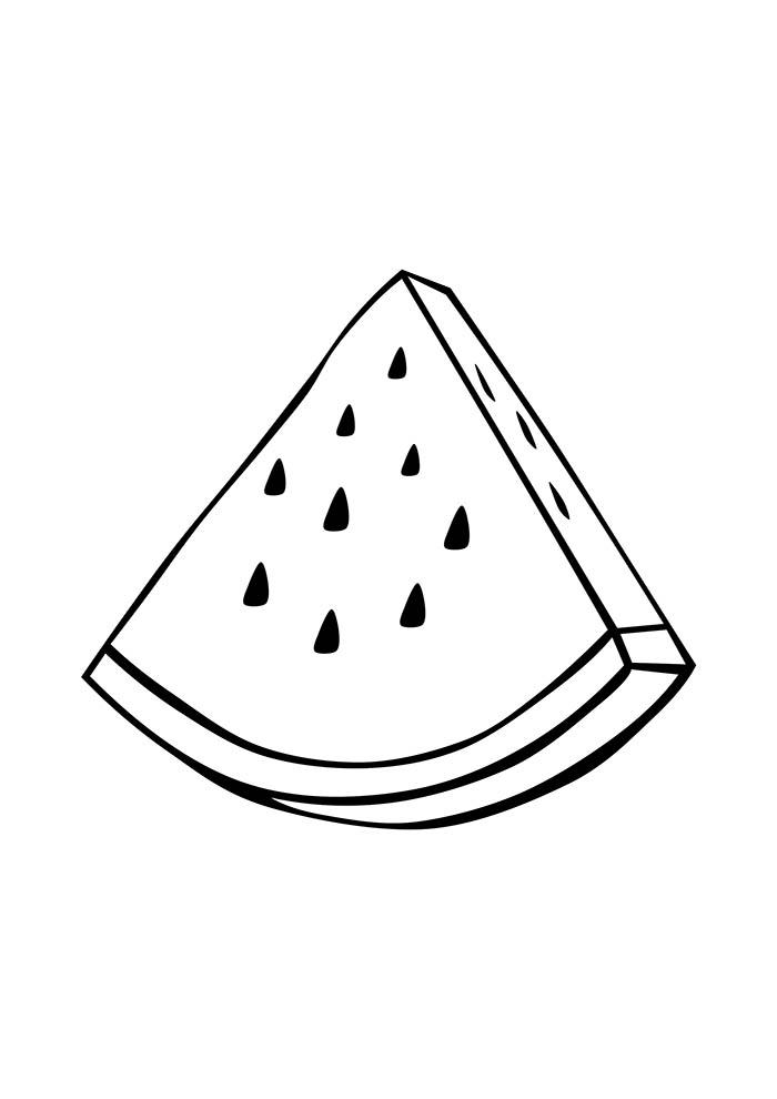 melancia para colorir pedaço